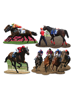 "Horse Racing Cutouts 11½""-14"""