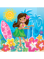 Hula Beach Party Lunch Napkins