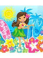 Hula Beach Party Napkins