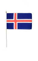 Iceland Hand Waving Flag
