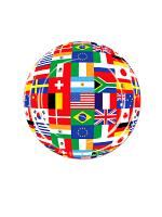 "International Flag 9"" Plate ( 8 plates per pack)"