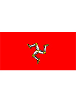 Isle Of Man Flag 5ft x 3ft With Eyelets For Hanging