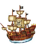 Jointed Pirate Ship 31""
