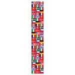 Jointed International Flag Pull Down Cutout 6'