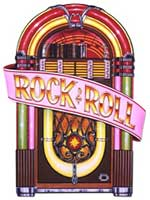 Jukebox Cutout Rock And Roll