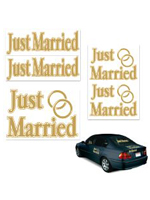 Just Married Car Stickers