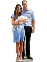 Kate - William and Baby Cambridge Lifesize Cardboard Cutout