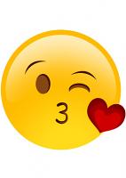Kiss Wink Heart Emoji Mask