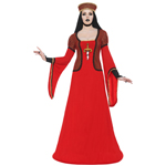 Lady Assassin In Waiting Costume Red