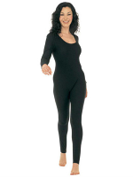 Lady Bodysuit W/Sleeves Black