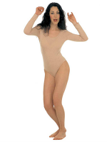 Lady Leotard Long Sleeves Beige