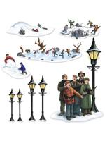 Lampposts - Carolers & Winter Fun Props
