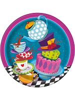 Mad Hatter Tea Party Plates 9""