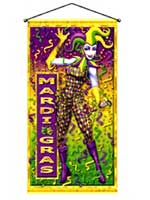 Mardi Gras Hanging Door/Wall Panel