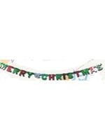 Merry Christmas Banner Foil Letters 1.5m