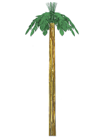 Metallic Hanging 8' Palm Tree Decoration