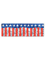 Metallic Stars & Stripes Fringe Banner