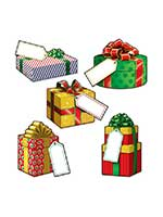 "Mini Christmas Gift Cardboard Cutouts 4""-5"""