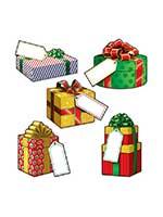 "Mini Christmas Gift Cardboard Cutouts 4""-5"""