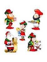 Mini Santa and Elves Cutouts