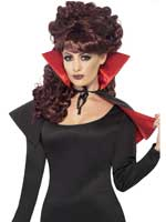 Mini Vamp Cape,Red and Black