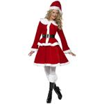 Miss Santa Costume With Muff