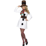 Miss Snowman Costume, White and Black