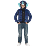 Monster Zinkoid, Blue & Black, Furry Jacket with Hood