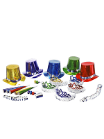 Multi-Coloured New Year Party Kit for 10 People