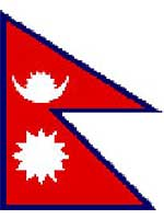 Nepal Flag 5ft x 3ft  With Eyelets For Hanging