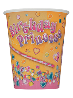 New Pink Princess Cups 9""