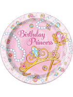New Pink Princess Plates 9""