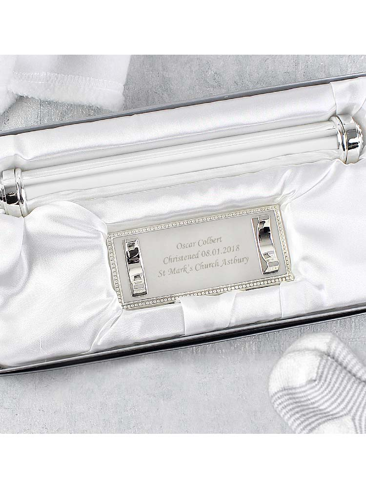 Personalised Plain Silver Plated Certificate Holder