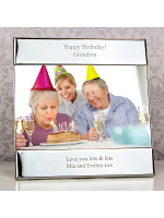 Personalised Silver Square 6x4 Photo Frame