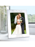 Personalised Silver 5x7 Decorative Photo Frame