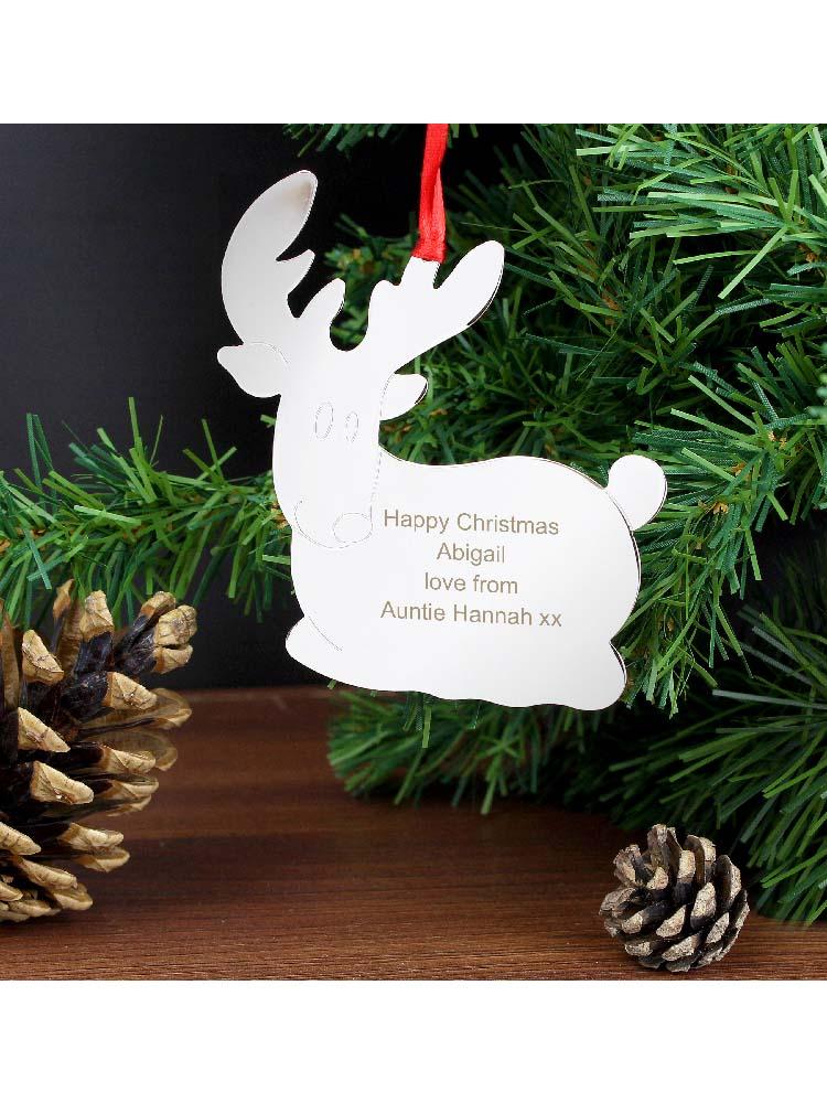 Personalised Reindeer Tree Decoration