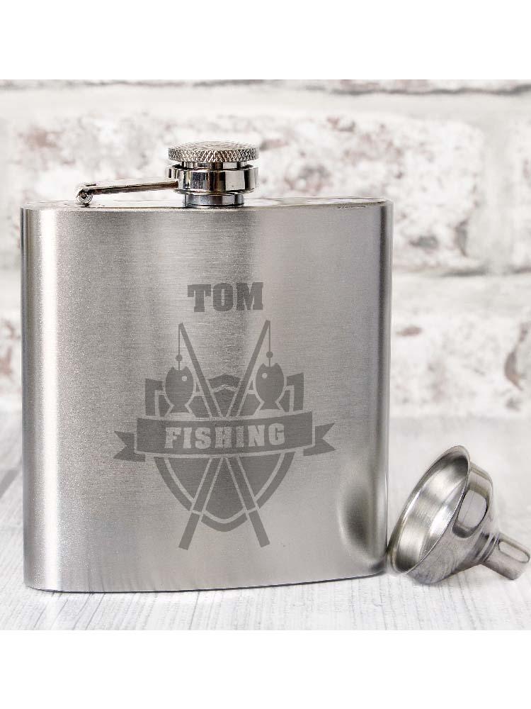 Personalised Fishing Hip Flask