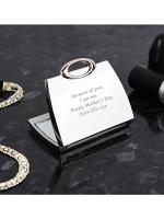 Personalised Any Message Handbag Compact Mirror