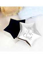 Personalised 1st Curl Star Trinket Box