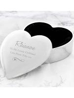 Personalised Any Message Swirls & Hearts Heart Trinket Box