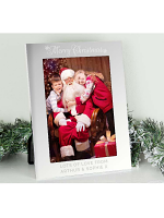 Personalised Silver 5x7 Merry Christmas Photo Frame