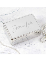 Personalised Name Rectangular Jewellery Box