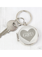 Personalised Couples Initials Photo Keyring