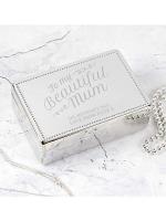 Personalised Beautiful Mum Rectangular Jewellery Box