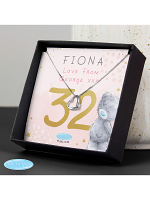 Personalised Me To You Sparkle & Shine Birthday Sentiment Silver Tone Necklace and Box