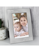 Personalised Free Text 7 x 5 Silver Photo Frame