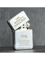 Personalised 'The World's Greatest' Silver Lighter