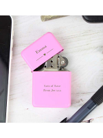 Personalised Decorative Heart Pink Lighter
