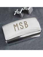 Personalised Initials Cufflink Box