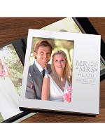 Personalised Mr & Mrs Photo Frame Album 6x4